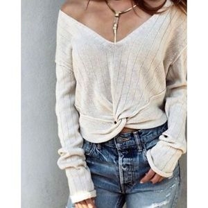 NWT Free People Got Me Twisted Sweater